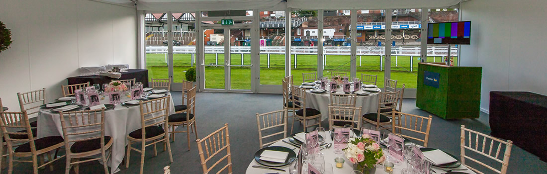 Festival Chalets Chester Racecourse